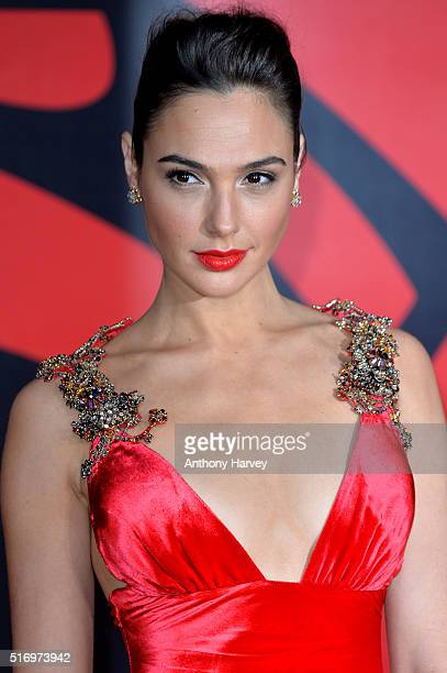 Gal Gadot attends the European Premiere of 'Batman V Superman Dawn Of Justice' at Odeon Leicester Square on March 22 2016 in London England