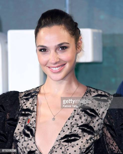 Gal Gadot attends the 'Justice League' photocall at The College on November 4 2017 in London England