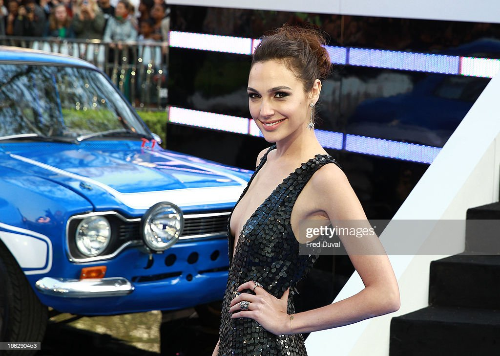 <a gi-track='captionPersonalityLinkClicked' href=/galleries/search?phrase=Gal+Gadot&family=editorial&specificpeople=4350069 ng-click='$event.stopPropagation()'>Gal Gadot</a> attends The UK Film Premiere of The Fast And The Furious 6 at The Empire Cinema on May 7, 2013 in London, England.