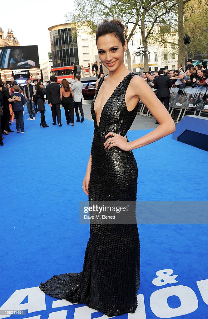 <a gi-track='captionPersonalityLinkClicked' href=/galleries/search?phrase=Gal+Gadot&family=editorial&specificpeople=4350069 ng-click='$event.stopPropagation()'>Gal Gadot</a> attends the World Premiere of 'Fast & Furious 6' at Empire Leicester Square on May 7, 2013 in London, England.