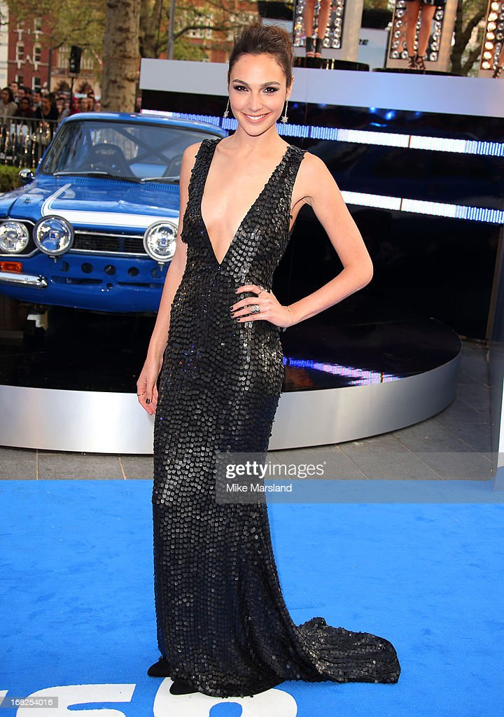 Gal Gadot attends the World Premiere of 'Fast & Furious 6' at Empire Leicester Square on May 7, 2013 in London, England.