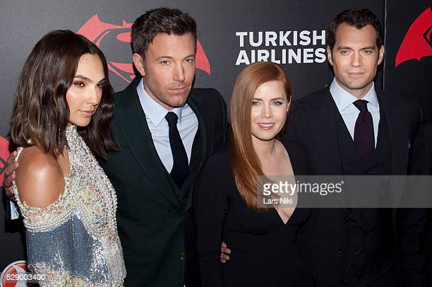 Gal Gadot Ben Affleck Amy Adams and Henry Cavill attend the 'Batman V Superman Dawn Of Justice' New York Premiere at Radio City Music Hall in New...