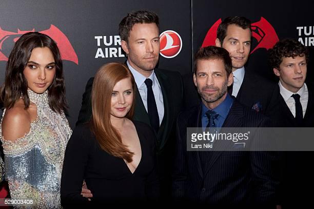 Gal Gadot Ben Affleck Amy Adams Henry Cavill and Jesse Eisenberg attend the 'Batman V Superman Dawn Of Justice' New York Premiere at Radio City Music...