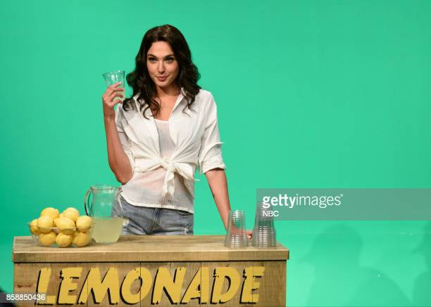 LIVE 'Gal Gadot' Episode 1727 Pictured Gal Gadot during 'Mirage' in Studio 8H on October 7 2017