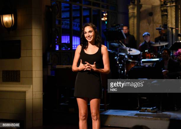 LIVE 'Gal Gadot' Episode 1727 Pictured Gal Gadot during the opening Monologue in Studio 8H on October 7 2017