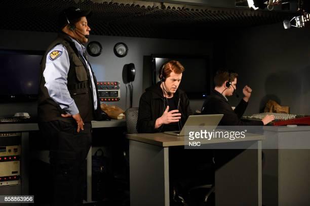 LIVE 'Gal Gadot' Episode 1727 Pictured Kenan Thompson Alex Moffat Luke Null during 'Espionage' in Studio 8H on October 7 2017