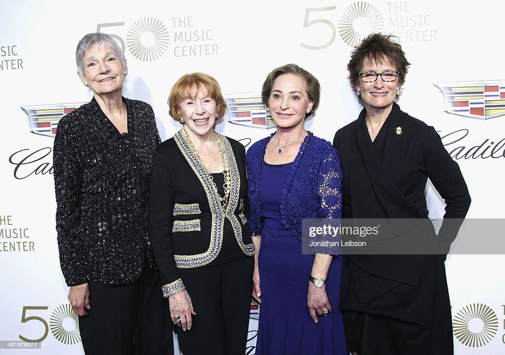 Gala Co-Chair/Board members Alyce Williamson, Brindell Gottlieb, Judy Beckmen, Eva Stern arrives at The Music Center's 50th Anniversary Launch Party held at The Dorothy Chandler Pavilion on April 1, 2014 in Los Angeles, California.