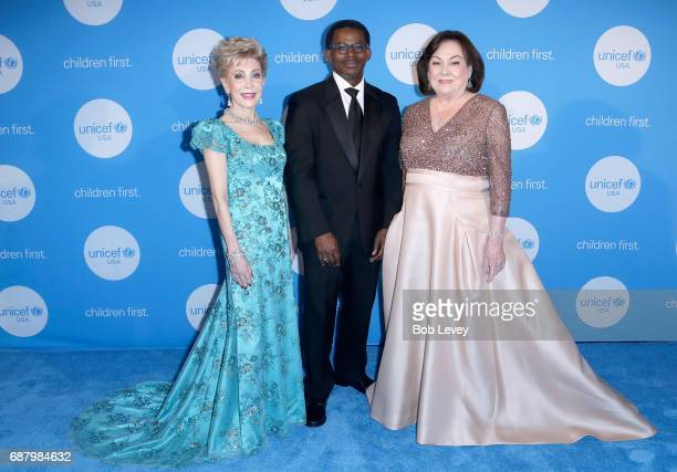 Gala Committee presenter Margaret Alkek Williams Regional Managing Director Southwest Region UNICEF USA Nelson Bowman and Honoree Rosanette Cullen at...