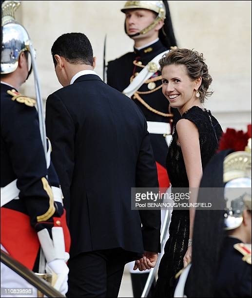 Gala Diner At The Petit Palais For The Paris' Union For The Mediterranean Founding Summit In Paris France On July 13 2008 Syrian President Bashar...