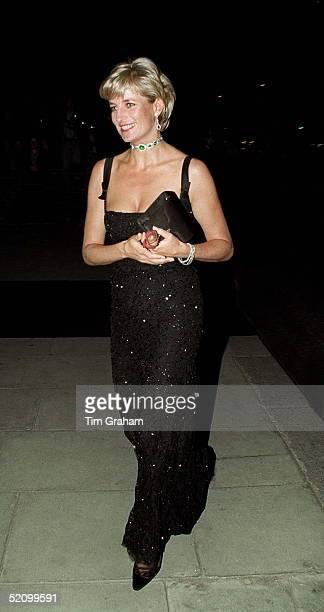Gala Evening To Celebrate The Tate Gallery's Centenary In London Diana Princess Of Wales Arriving At The Tate Gallery On Her 36th Birthday On 1st...