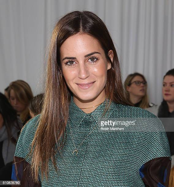 Gala Gonzalez attends Delpozo during Fall 2016 New York Fashion Week at Pier 59 Studios on February 17 2016 in New York City
