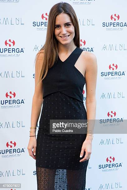 Gala Gonzalez attends 'Superga' new collection presentation at Otto Restaurant on May 28 2015 in Madrid Spain