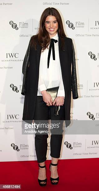 Gala Gordon attends the BFI London Film Festival IWC Gala Dinner in honour of the BFI at Battersea Evolution Marquee on October 7 2014 in London...