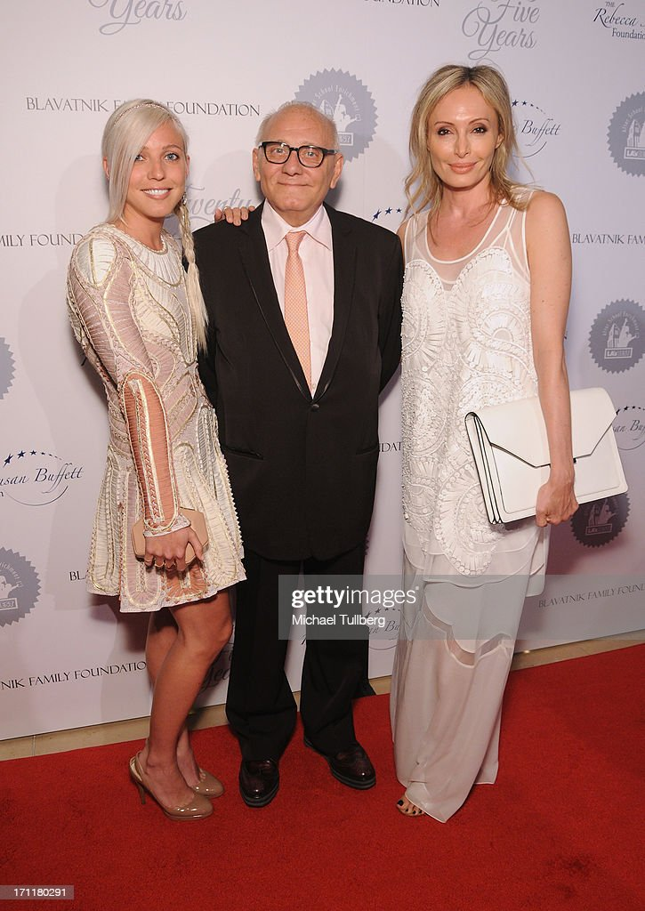 Gala honorees Max Azria (C), <a gi-track='captionPersonalityLinkClicked' href=/galleries/search?phrase=Lubov+Azria&family=editorial&specificpeople=2281952 ng-click='$event.stopPropagation()'>Lubov Azria</a> (R) and daughter Marina Azria attend the LA's Best 25th Anniversary Gala at The Beverly Hilton Hotel on June 22, 2013 in Beverly Hills, California.