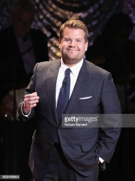 Gala host James Corden performs onstage during Lincoln Center's American Songbook Gala at Alice Tully Hall on February 1 2017 in New York City