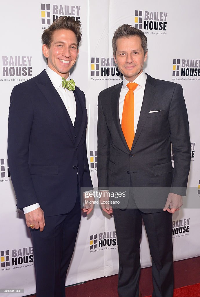 Gala hosts Mickey Conlon (L) and Tom Postilio attend the Bailey House's 2014 Gala & Auction at Pier 60 on March 27, 2014 in New York City.