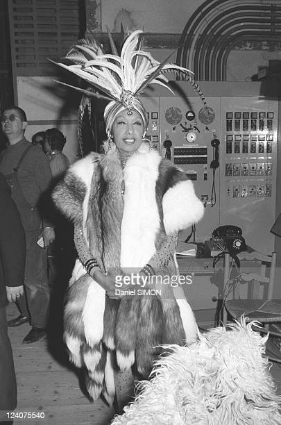 Gala organized by the Baroness de Rothschild for the restoration of Versailles castle in Versailles France on November 28 1973 Josephine Baker