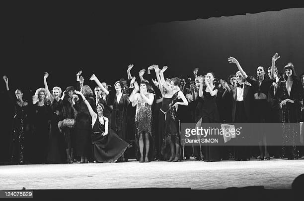 Gala organized by the Baroness de Rothschild for the restoration of Versailles castle in Versailles France on November 28 1973