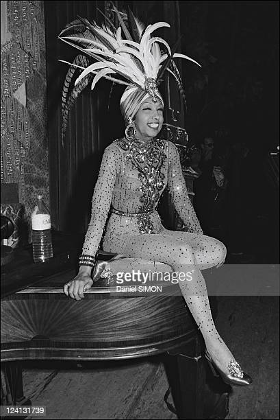 Gala organized by the Baroness de Rothschild for the restoration of Versailles castle In France On November 28 1973 Josephine Baker