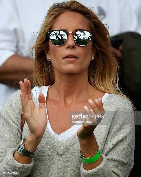 Gala Ortin wife of Pablo Larrazabal of Spain watches during day three of the Open de Espana at Real Club Valderrama on April 16 2016 in Sotogrande...