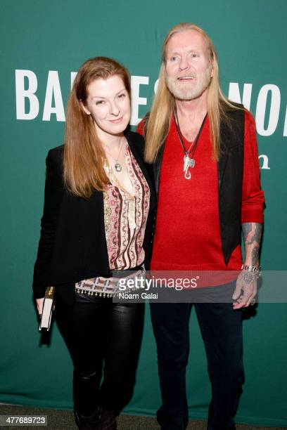 Galadrielle Allman and singer/songwriter Gregg Allman visit Barnes Noble Union Square on March 10 2014 in New York City