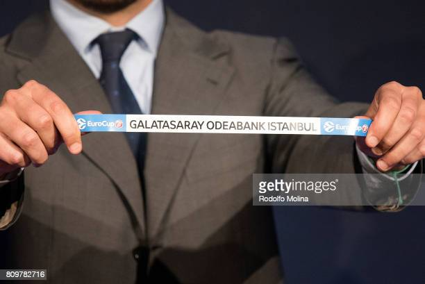 Galatasaray Odeabank Istanbul is drawn during the 20172018 7Days EuroCup Draw at Imagina Centre Audiovisual on July 6 2017 in Barcelona Spain