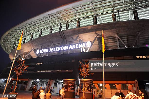 Galatasaray Turk Telokom Arena is pictured on October 23 during the Champions League football match between Galatasaray and Cluj in Istanbul AFP...