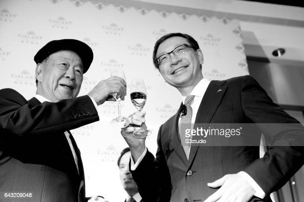 Galaxy Entertainment Group Chairman Dr Chewoo Lui and Vice Chairman of Galaxy Entertainment Group Francis Lui Yiu Tung hold a press conference on the...