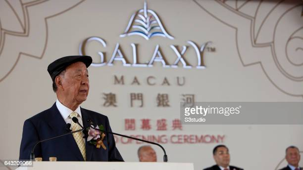 Galaxy Entertainment Group Chairman Dr Chewoo Lui speaks on the day of the Galaxy Macau Grand Opening on Sunday May 15 2011