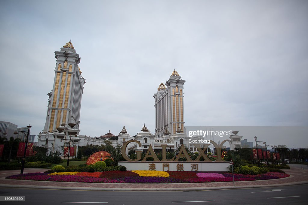 Galaxy Entertainment Group Ltd.'s Galaxy Macau casino resort stands in Macau, China, on Wednesday, Feb. 6, 2013. Casino industry revenue in the gambling hub climbed 14 percent to a record 304 billion patacas ($38 billion) last year. Photographer: Lam Yik Fei/Bloomberg via Getty Images