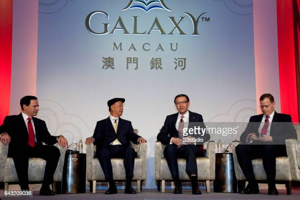Galaxy Entertainment Group President and Chief Operating Officer Michael Mecca Galaxy Entertainment Group Chairman Dr Chewoo Lui Vice Chairman of...