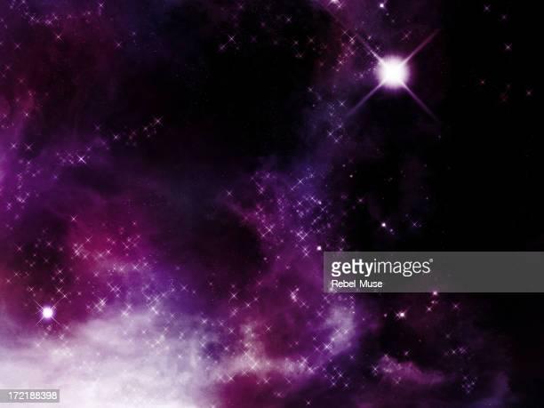 Galaxy image with stars and nebula