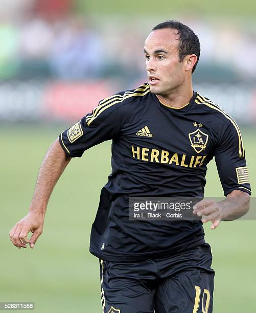 LA Galaxy player Landon Donovan during the Herbalife World Football Challenge Friendly match between LA Galaxy and Real Madrid Real Madrid won the...