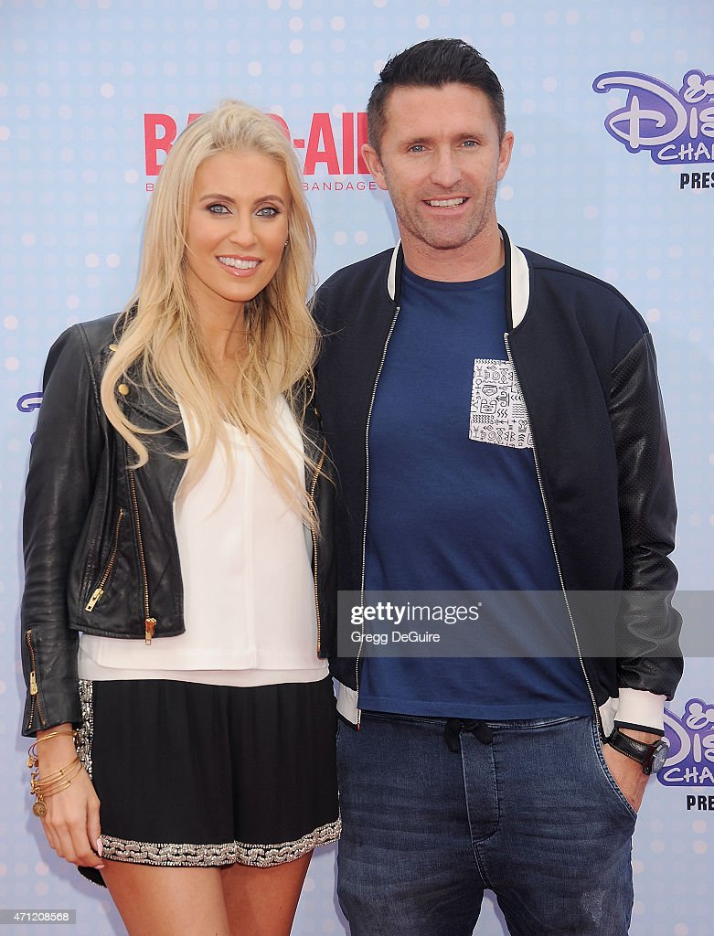 L.A. Galaxy player <a gi-track='captionPersonalityLinkClicked' href=/galleries/search?phrase=Robbie+Keane&family=editorial&specificpeople=171824 ng-click='$event.stopPropagation()'>Robbie Keane</a> and wife Claudine Palmer arrive at the 2015 Radio Disney Music Awards at Nokia Theatre L.A. Live on April 25, 2015 in Los Angeles, California.