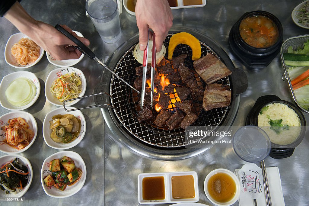 Galbi and banchan at Kogiya on February 25 in Springfield Va The dish features meat that's butchered inhouse says owner Sylvia Cho in such a way that...