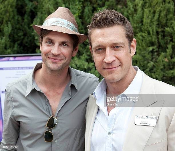 Gale Harold and Robert Gant attend 9th annual GLEH garden party at PetitfilsBoos Estate on October 3 2010 in Los Angeles California