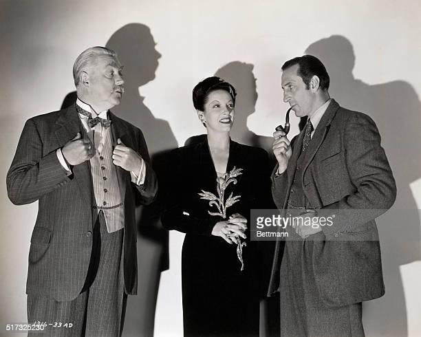 Gale Sondergaard proves to be a clever suspect and leads the great detective on an exciting chase in Universal's 'Sherlock Holmes and the Spider...
