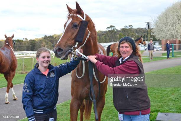 Galea with Karen Quilty and strapper Julie Smith after winning the bet365 0 58 Handicap at Kilmore Racecourse on September 09 2017 in Kilmore...