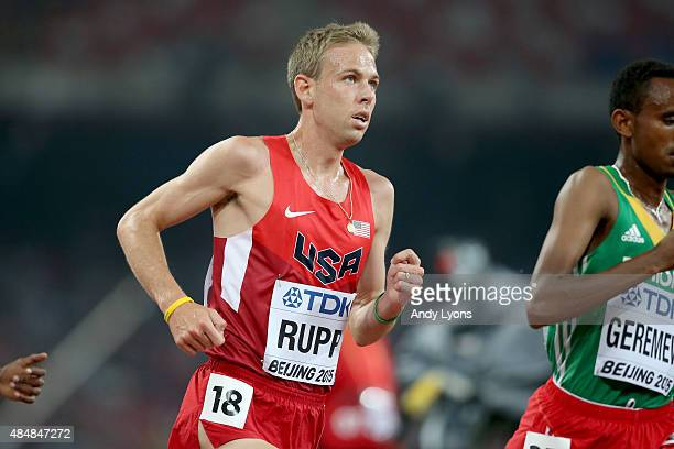 Galen Rupp of the United States competes in the Men's 10000 metres final during day one of the 15th IAAF World Athletics Championships Beijing 2015...
