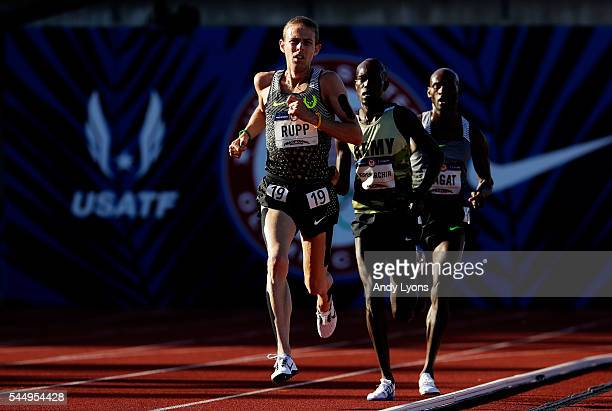 Galen Rupp runs in the Men's 10000 Meter Final during the 2016 US Olympic Track Field Team Trials at Hayward Field on July 1 2016 in Eugene Oregon