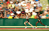 Galen Rupp runs on his way to winning the Men's 10000 Meter Final during the 2016 US Olympic Track Field Team Trials at Hayward Field on July 1 2016...