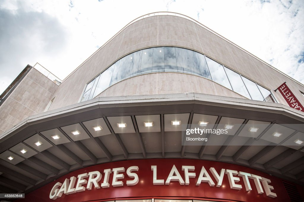 A Galeries Lafayette SA department store stands in Toulouse, France, on Tuesday, Aug. 12, 2014. The euro traded 0.3 percent from a nine-month low before reports this week that may show growth in the region weakened and inflation slowed, adding to signs the bloc's economy is struggling to recover. Photographer: Balint Porneczi/Bloomberg via Getty Images
