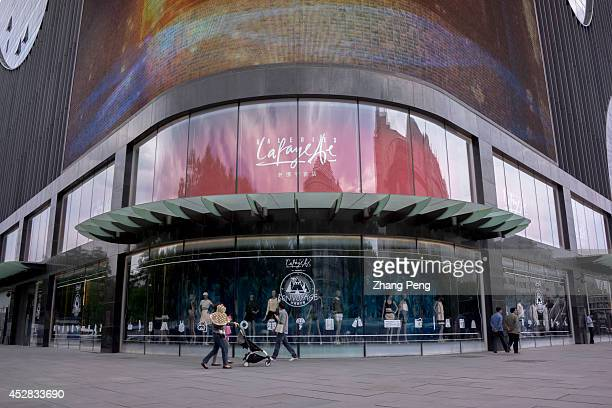 Galeries lafayette shopping mall in Xidan business street Because of economy development slowdown and anticorruption in China demand for branded...