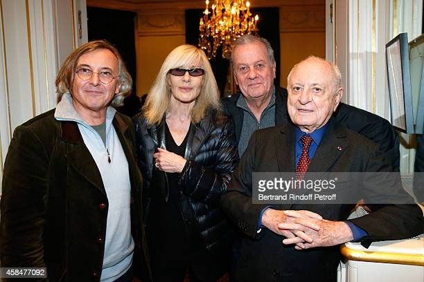 Galerist Pierre Passebon Betty Catroux Jacques Grange and Pierre Berge attend the 'Loulou de la Falaise' book signing Held at the Fondation 'Pierre...