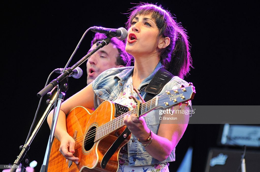 Galia Arad performs on stage at Kew Gardens on July 12, 2013 in London, England.