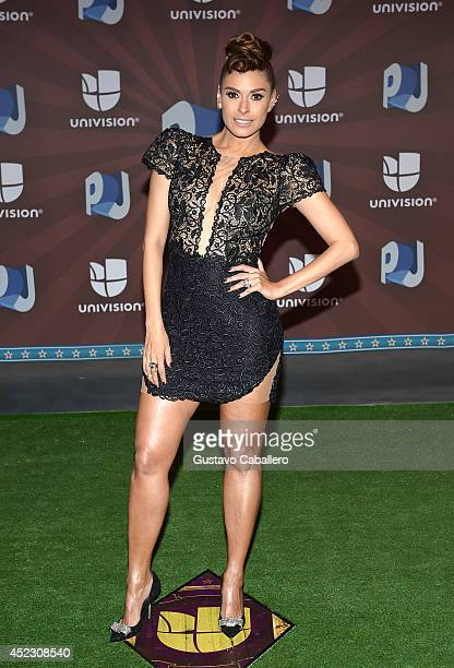 Galilea Montijo attends the Premios Juventud 2014 at The BankUnited Center on July 17 2014 in Coral Gables Florida