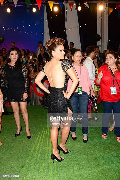Galilea Montijo attends the Premios Juventud 2014 Awards at Bank United Center on July 17 2014 in Miami Florida