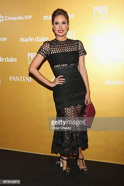 Galilea Montijo attends the Prix De La Mode Marie Claire at Hotel Hyatt Campos Eliseos on November 17 2015 in Mexico City Mexico