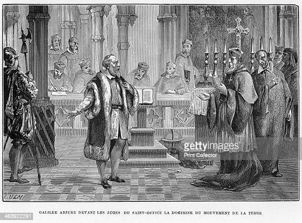 Galileo facing the Inquisition Rome 1633 Galileo Galilei Italian astronomer mathematician and physicist in Rome in 1633 facing the Inquisition...