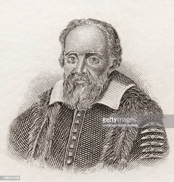 Galileo Galilei 1564 To 1642 Italian Physicist Mathematician Astronomer And Philosopher From Crabb's Historical Dictionary Published 1825